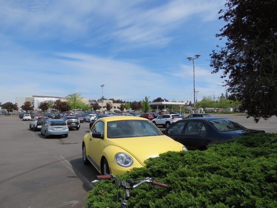 Sprawling parking lot at %th & Western