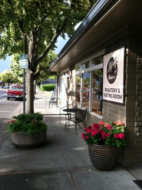 Street scene, coffee roastery