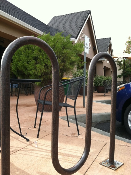 coffee shop bike racks