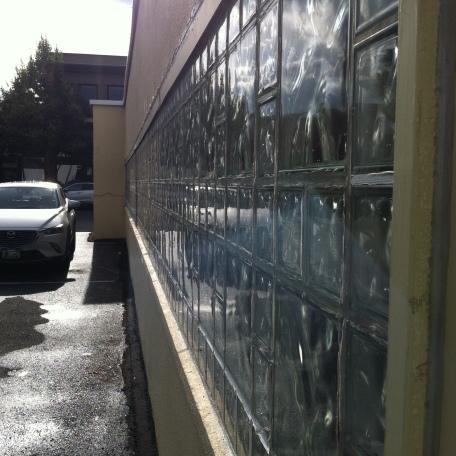 Glass paned window.